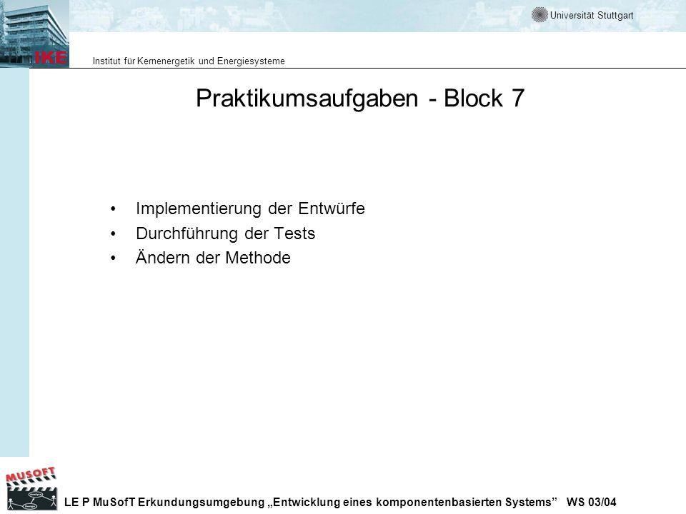 Praktikumsaufgaben - Block 7