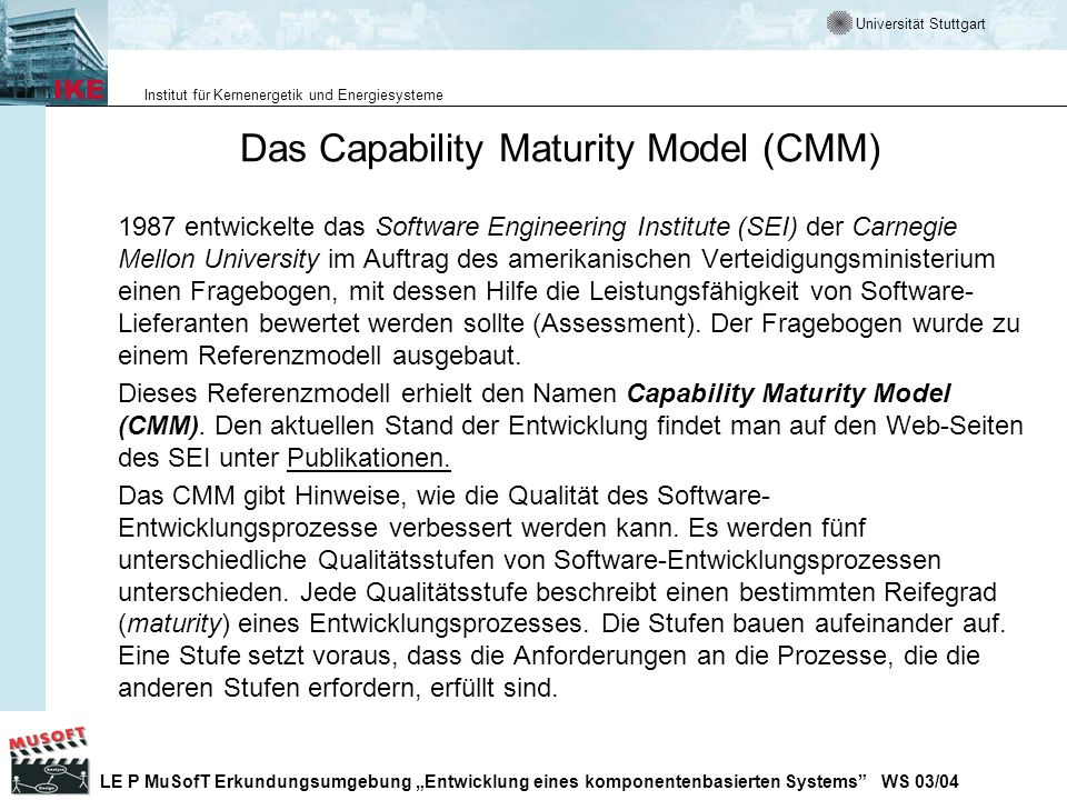 Das Capability Maturity Model (CMM)