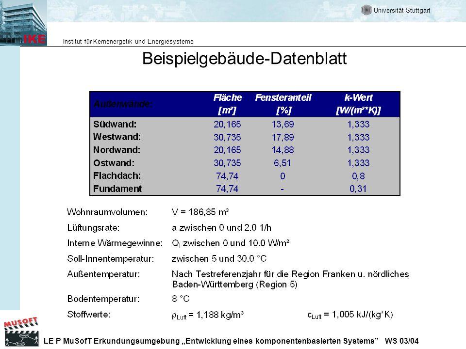 Beispielgebäude-Datenblatt