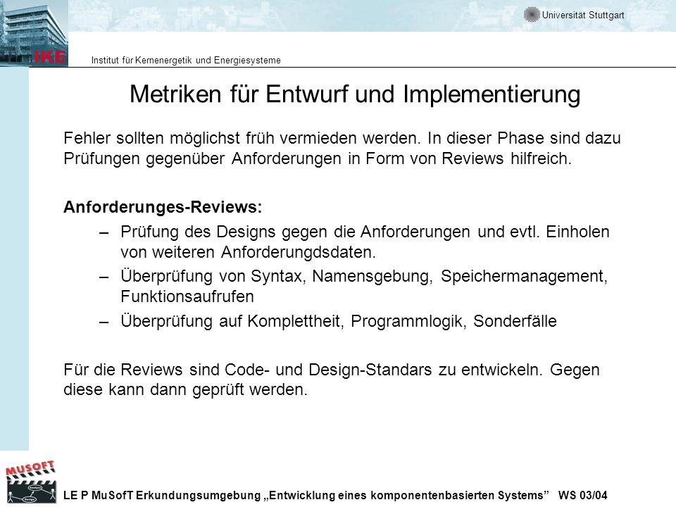 Metriken für Entwurf und Implementierung