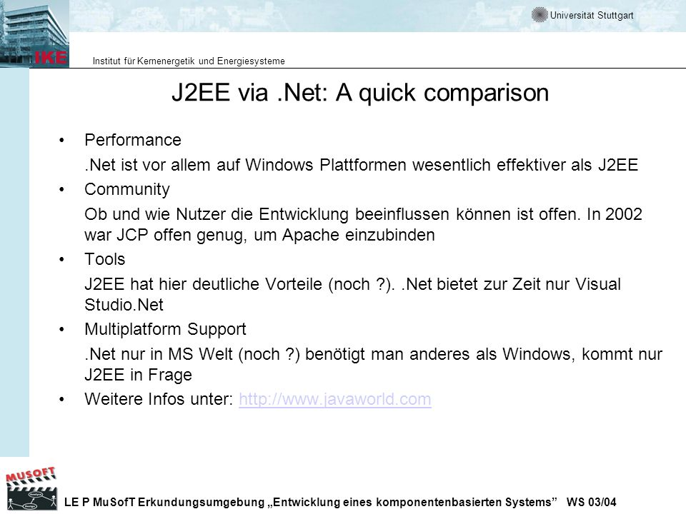 J2EE via .Net: A quick comparison