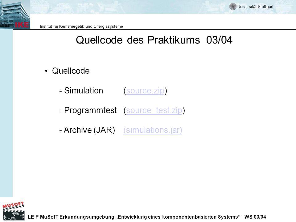 Quellcode des Praktikums 03/04