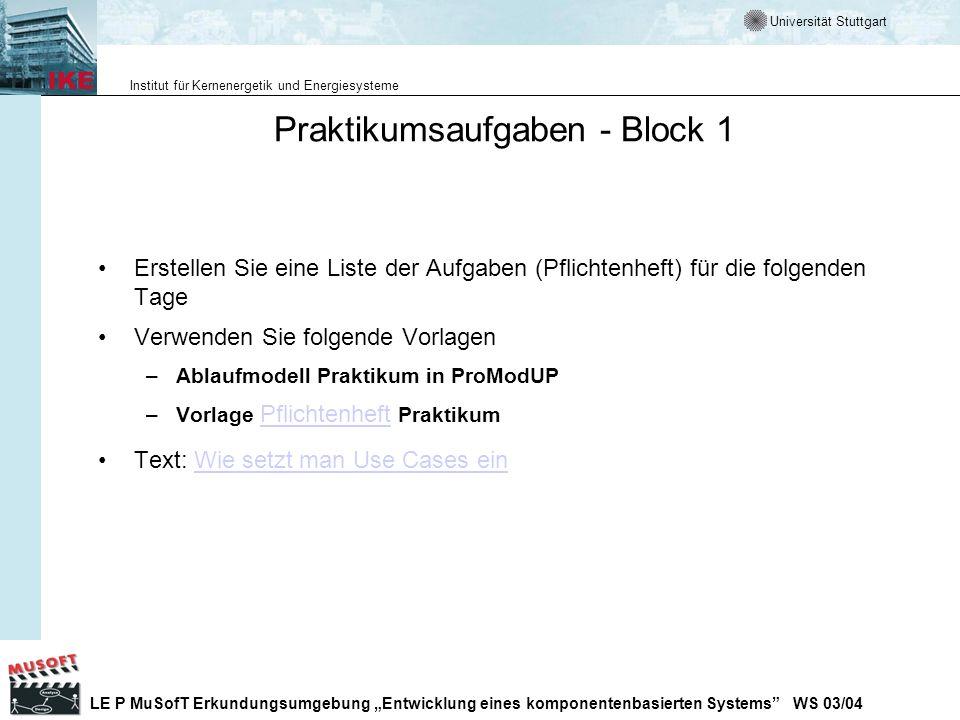 Praktikumsaufgaben - Block 1