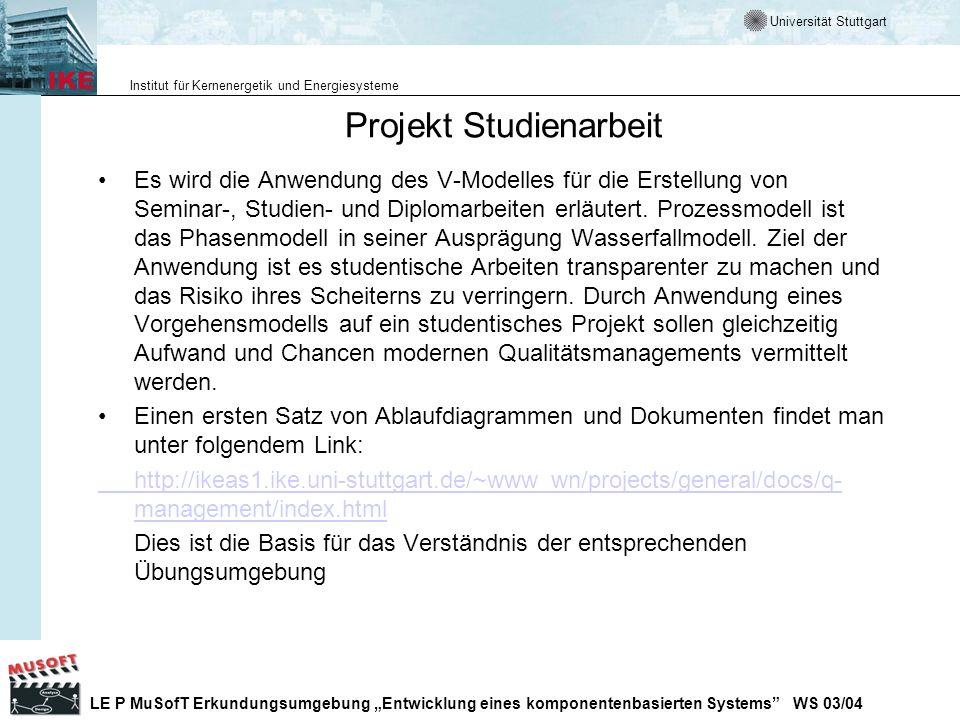 Projekt Studienarbeit
