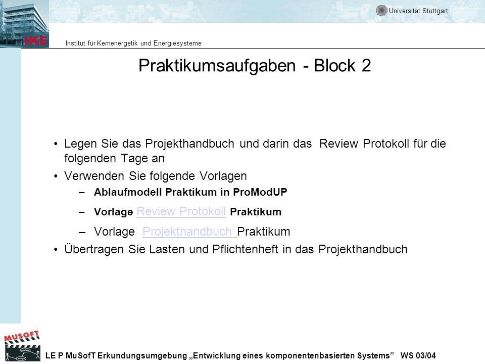 Praktikumsaufgaben - Block 2