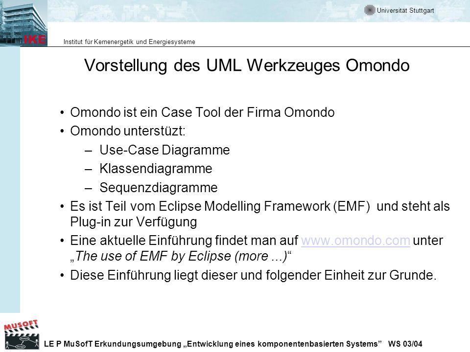 Vorstellung des UML Werkzeuges Omondo