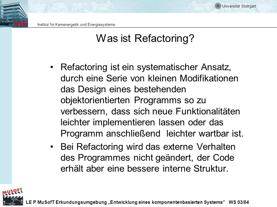 Was ist Refactoring