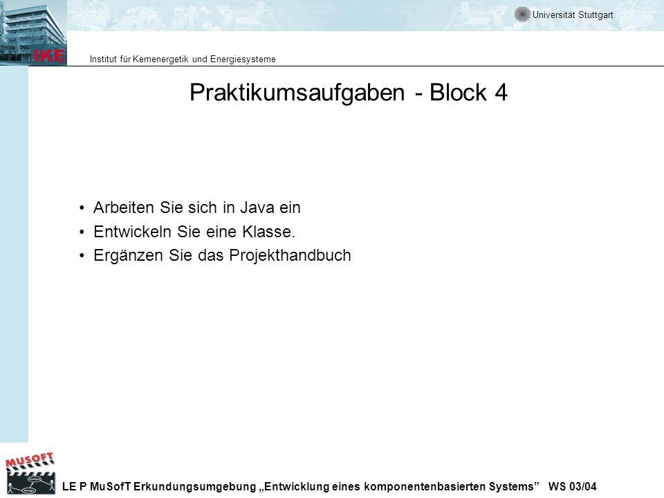 Praktikumsaufgaben - Block 4