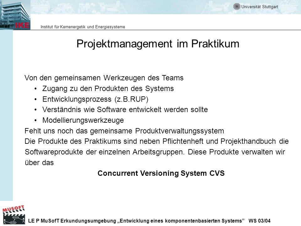 Projektmanagement im Praktikum