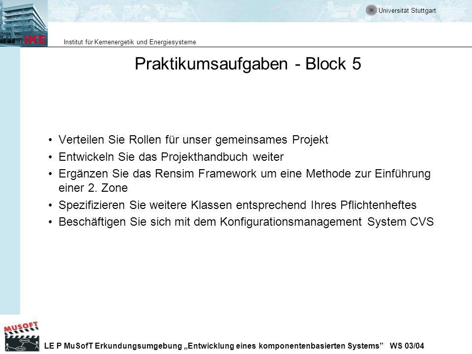 Praktikumsaufgaben - Block 5