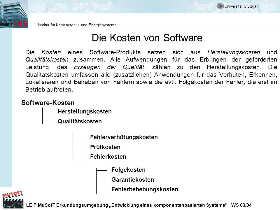 Die Kosten von Software