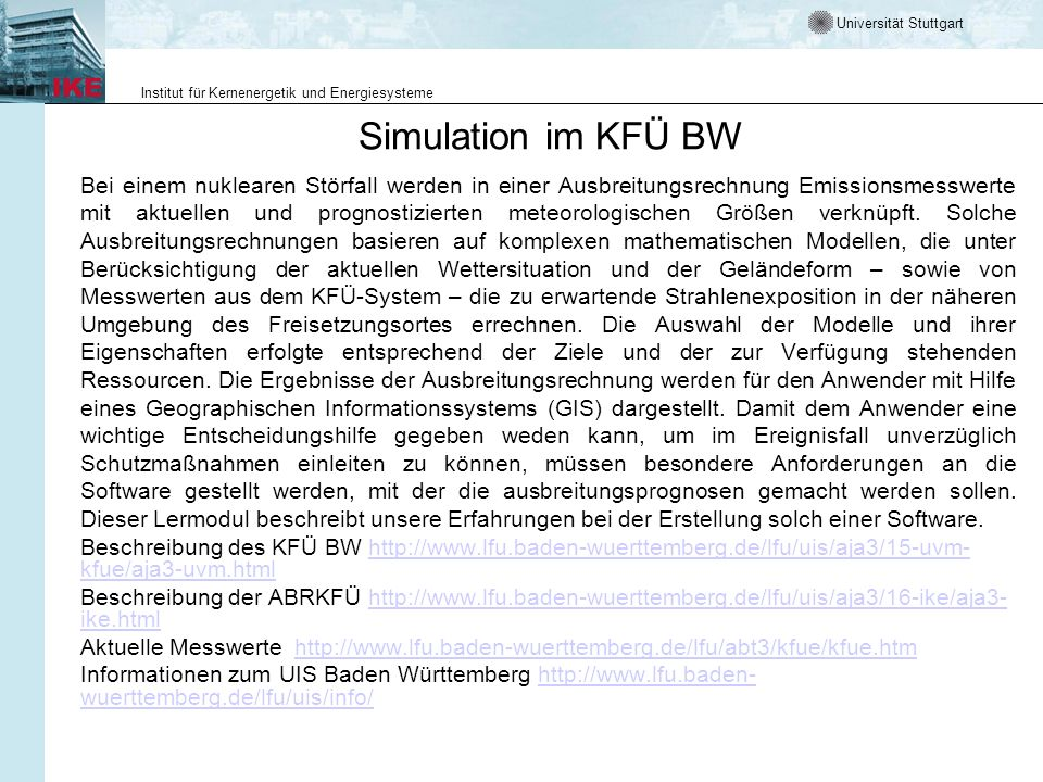 Simulation im KFÜ BW