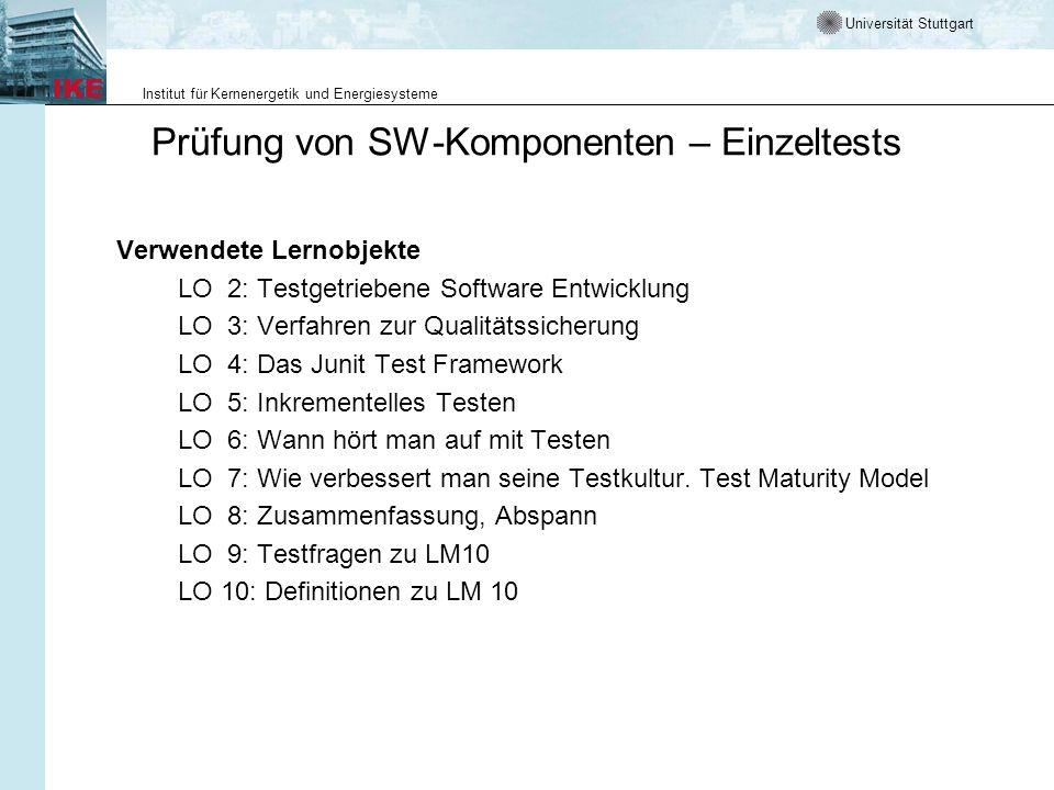 Prüfung von SW-Komponenten – Einzeltests