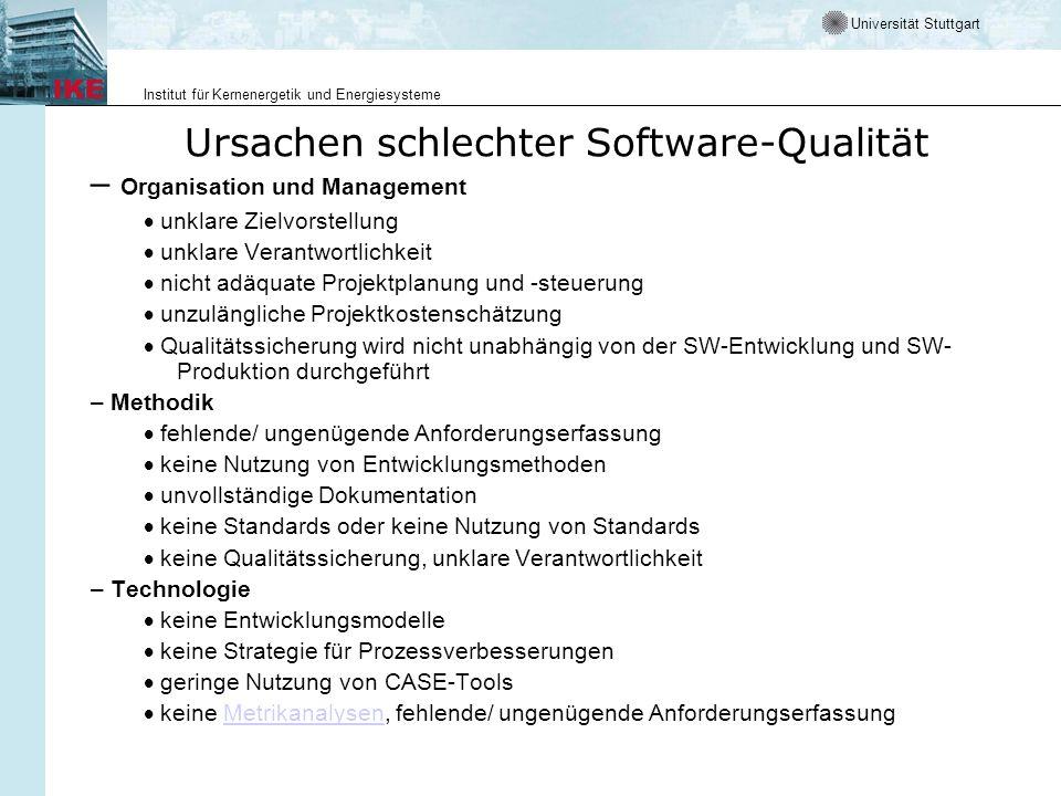 Ursachen schlechter Software-Qualität