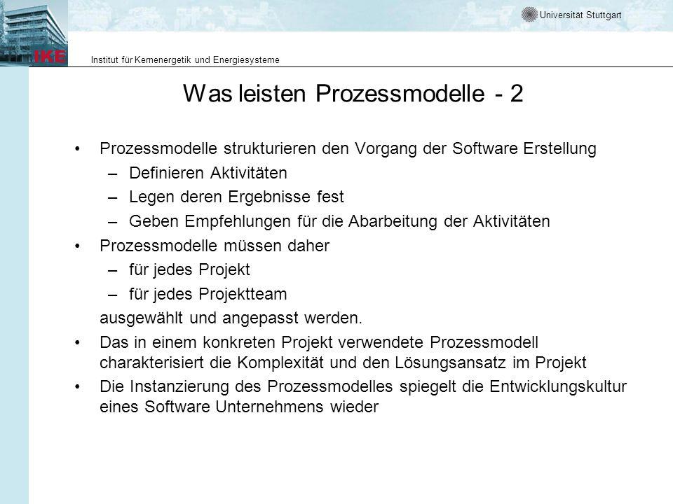 Was leisten Prozessmodelle - 2