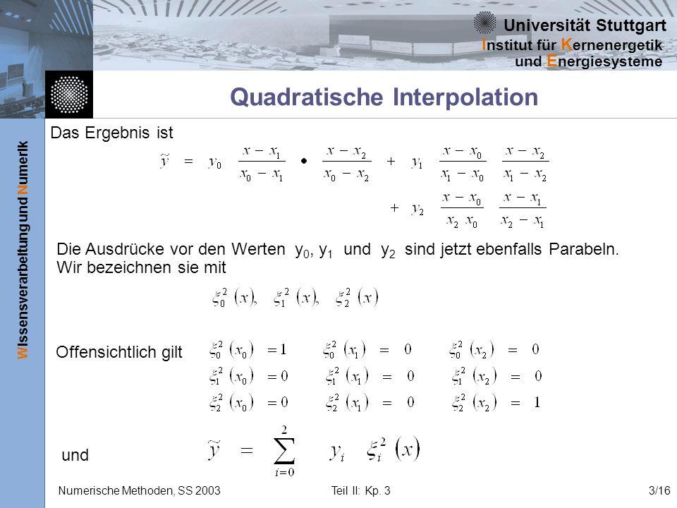 Quadratische Interpolation
