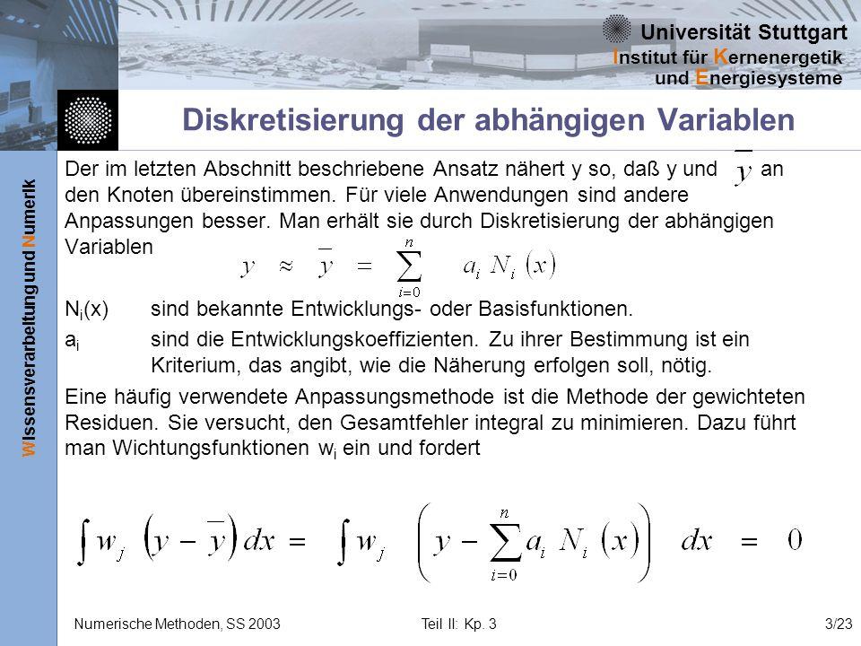 Diskretisierung der abhängigen Variablen