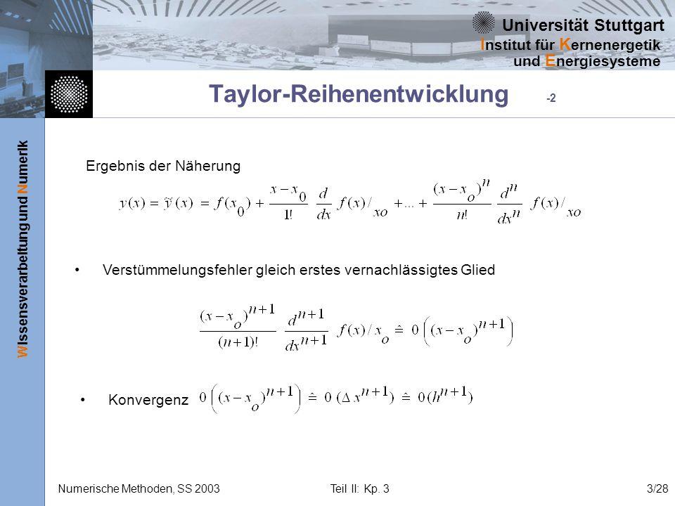 Taylor-Reihenentwicklung -2