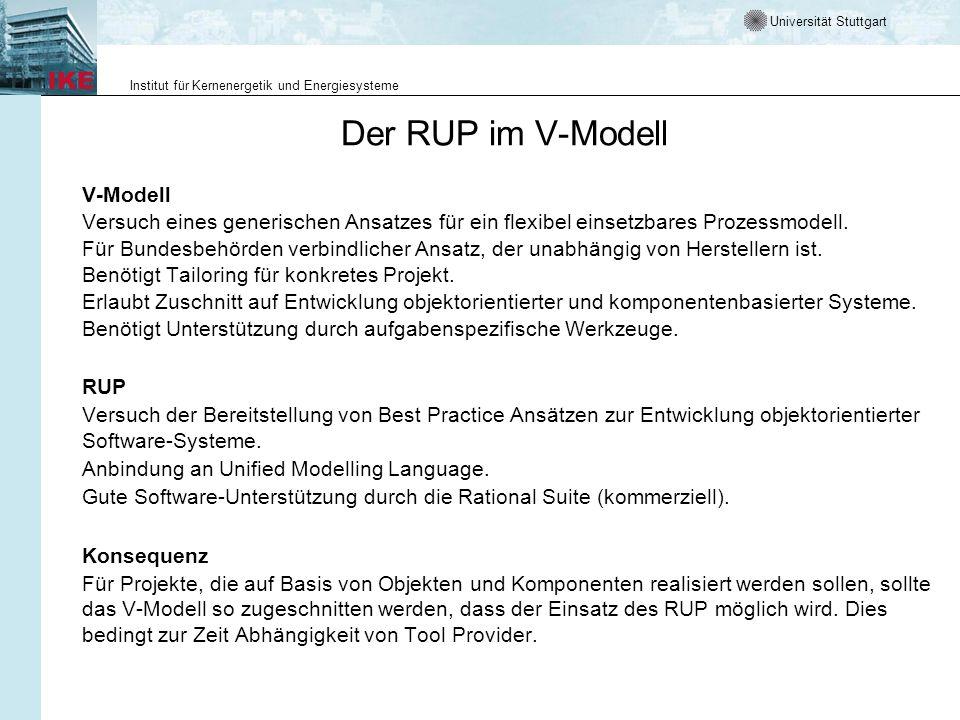 Der RUP im V-Modell V-Modell
