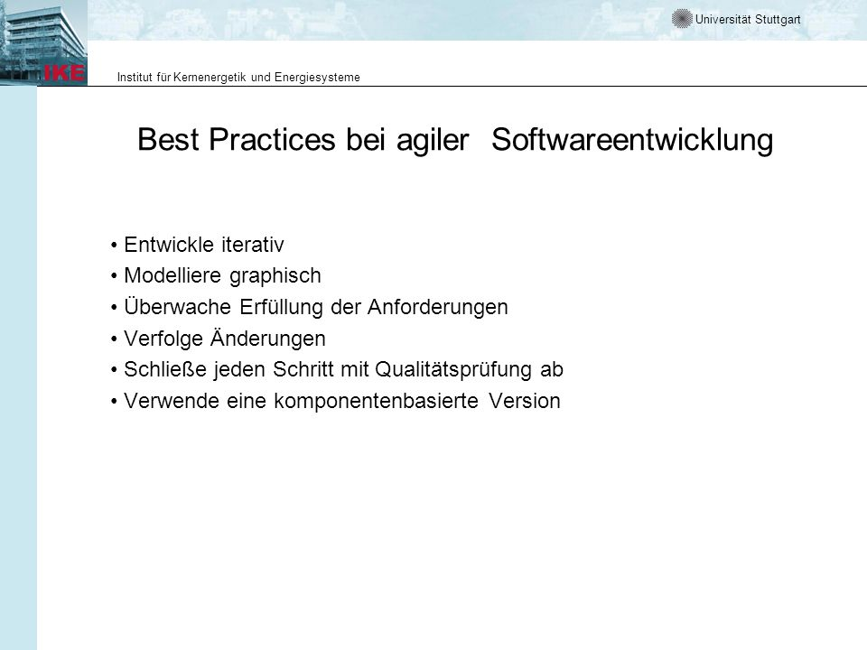 Best Practices bei agiler Softwareentwicklung