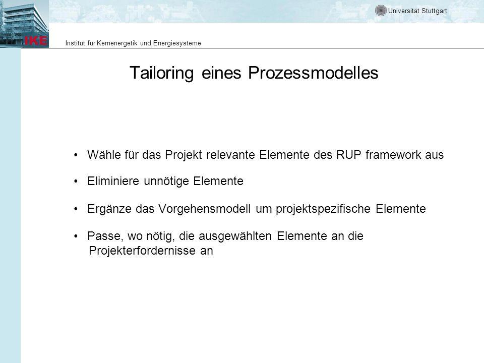 Tailoring eines Prozessmodelles