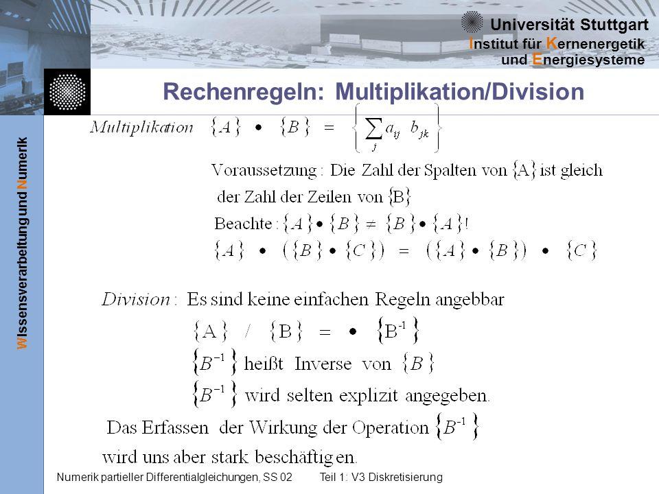Rechenregeln: Multiplikation/Division