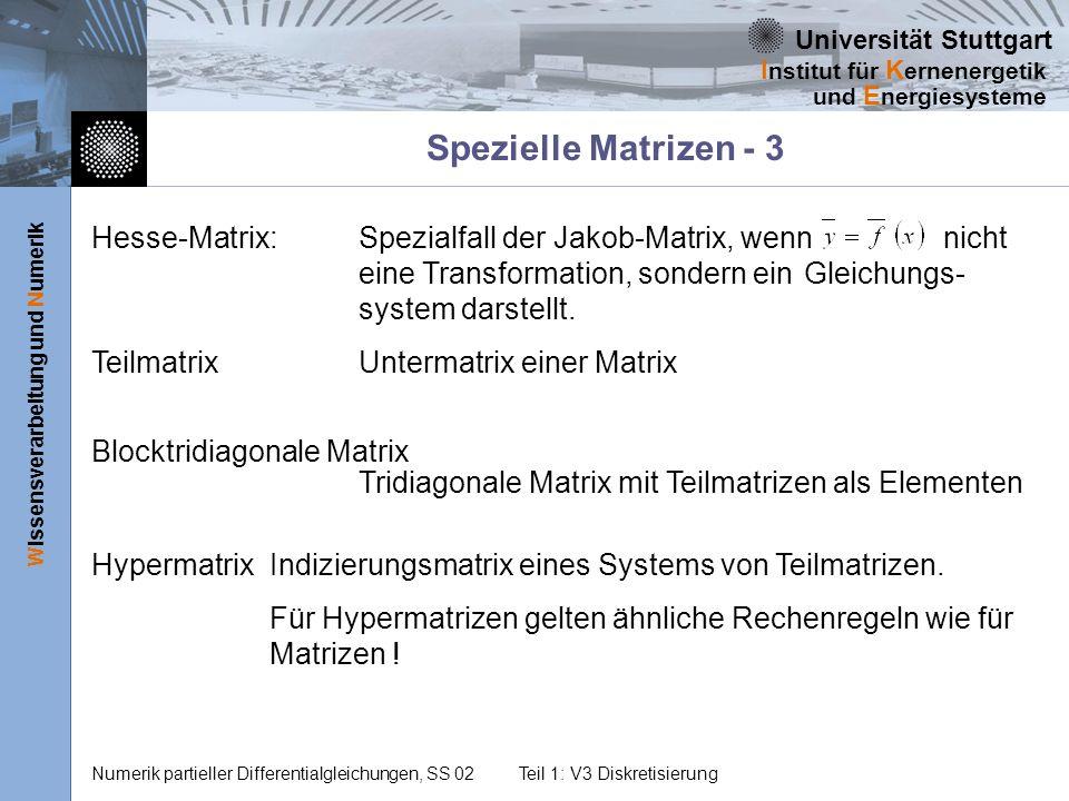 Spezielle Matrizen - 3
