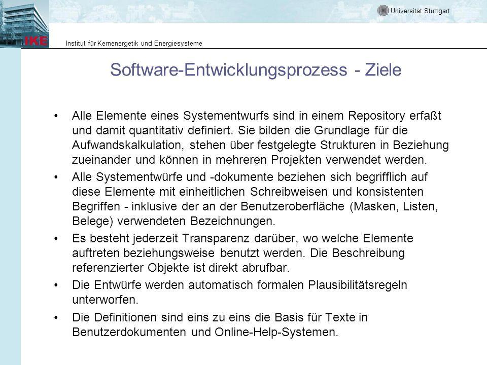 Software-Entwicklungsprozess - Ziele