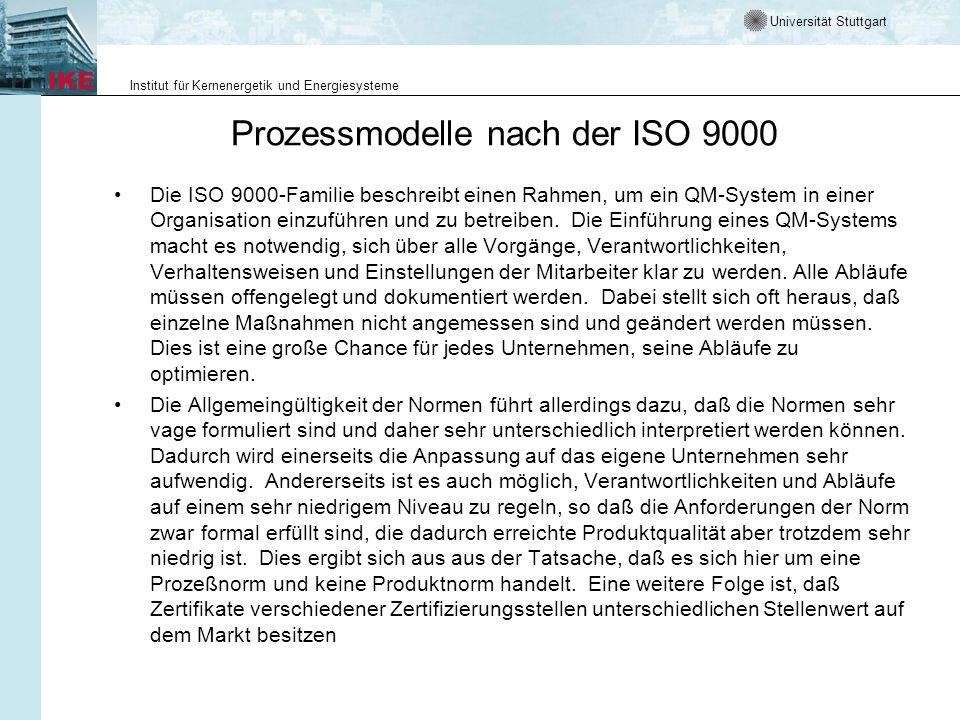 Prozessmodelle nach der ISO 9000