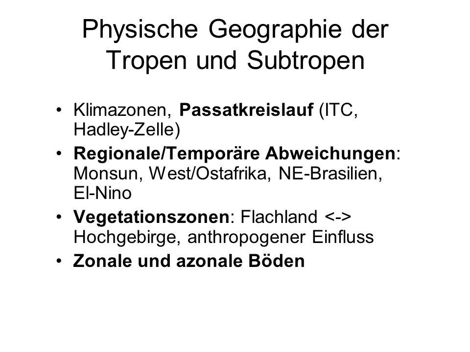 Physische Geographie der Tropen und Subtropen