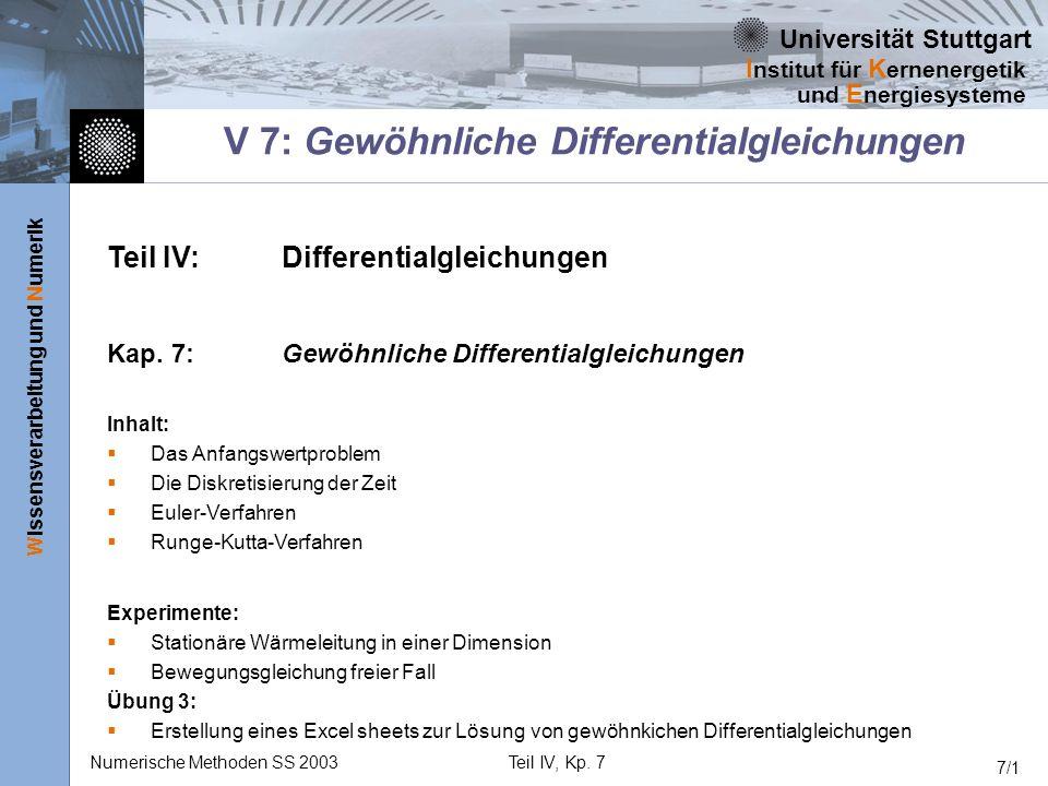 V 7: Gewöhnliche Differentialgleichungen