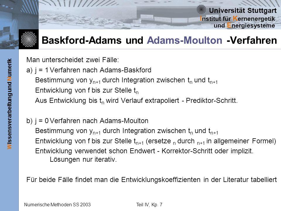 Baskford-Adams und Adams-Moulton -Verfahren