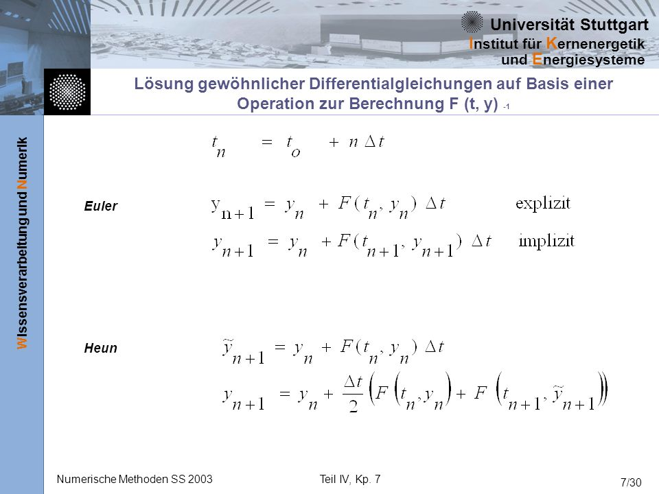 Lösung gewöhnlicher Differentialgleichungen auf Basis einer Operation zur Berechnung F (t, y) -1