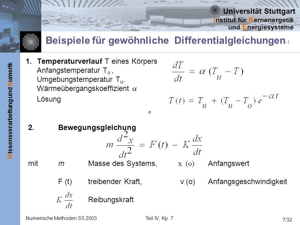 Beispiele für gewöhnliche Differentialgleichungen -1