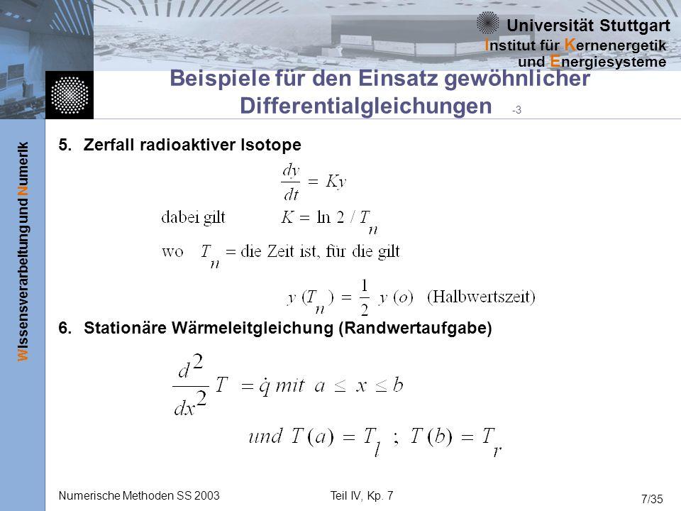 Beispiele für den Einsatz gewöhnlicher Differentialgleichungen -3