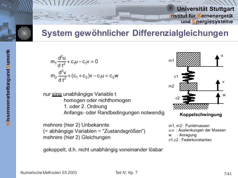 System gewöhnlicher Differenzialgleichungen