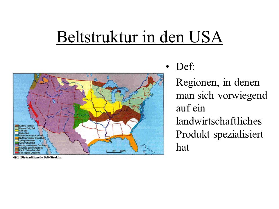 Beltstruktur in den USA