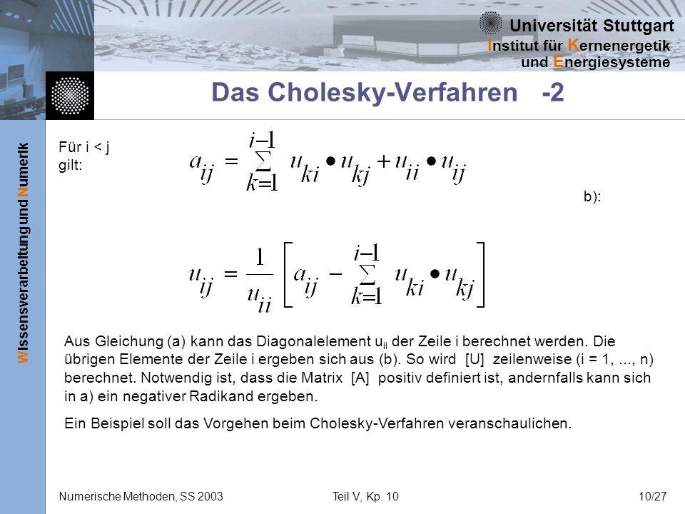 Das Cholesky-Verfahren -2
