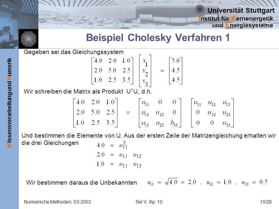 Beispiel Cholesky Verfahren 1