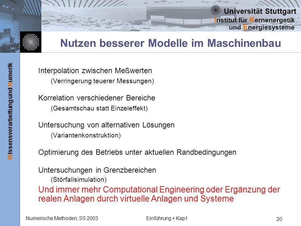 Nutzen besserer Modelle im Maschinenbau