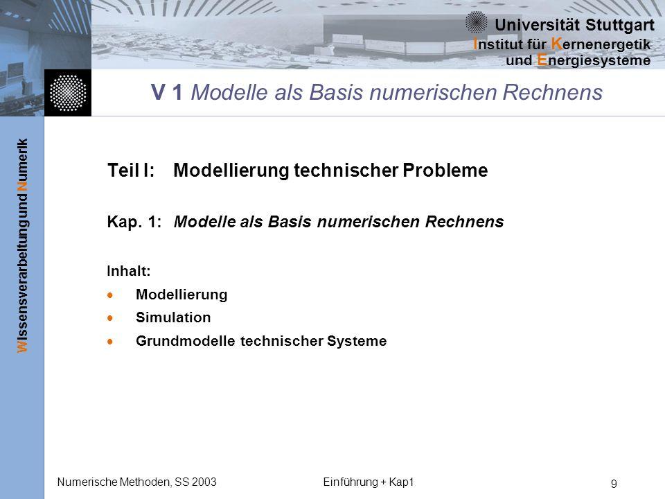 V 1 Modelle als Basis numerischen Rechnens
