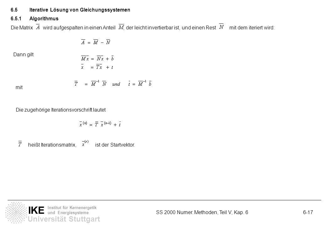 6.5 Iterative Lösung von Gleichungssystemen