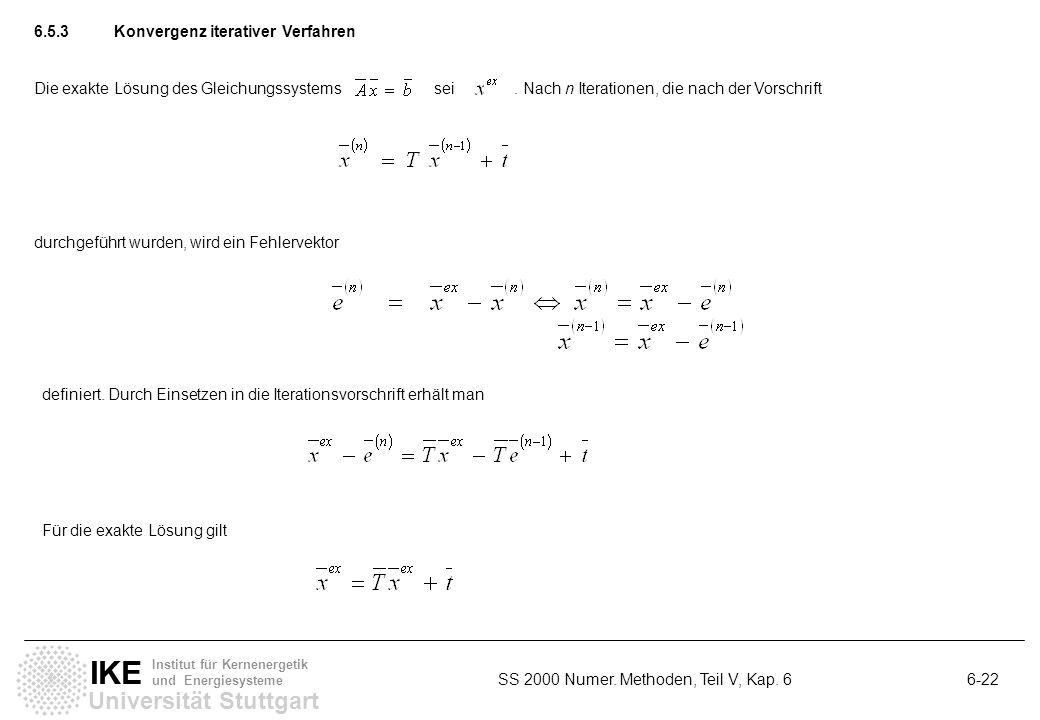 6.5.3 Konvergenz iterativer Verfahren