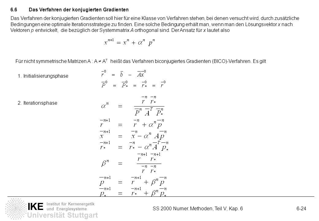 6.6 Das Verfahren der konjugierten Gradienten
