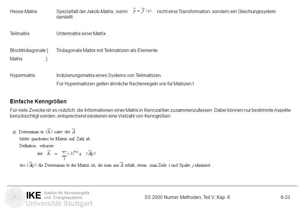 Hesse-Matrix. Spezialfall der Jakob-Matrix, wenn