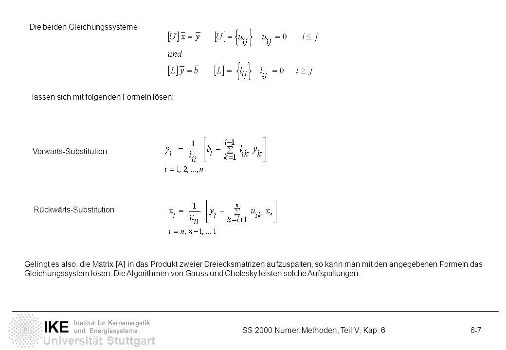 Die beiden Gleichungssysteme