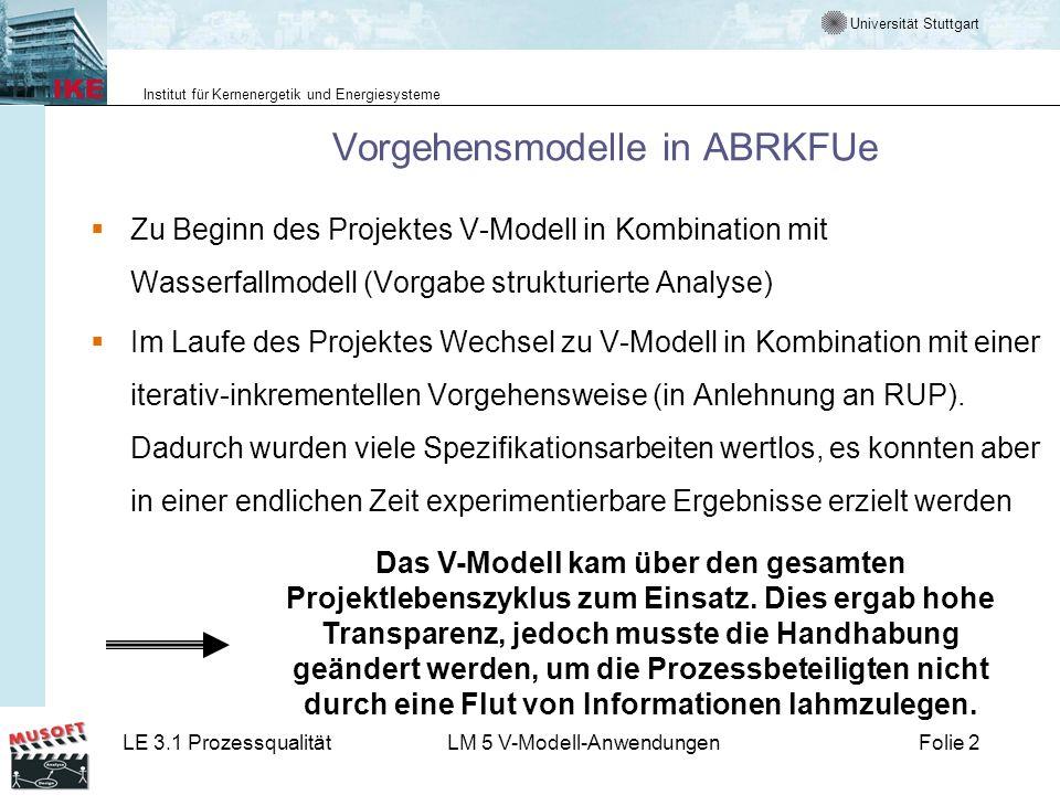 Vorgehensmodelle in ABRKFUe