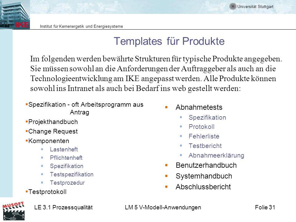 Templates für Produkte