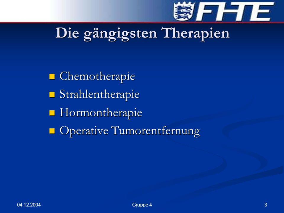 Die gängigsten Therapien