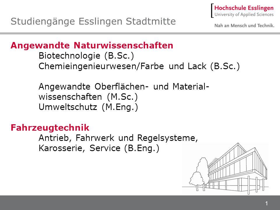 Studiengänge Esslingen Stadtmitte